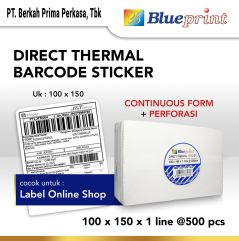 Direct Thermal Sticker Label Resi Online BLUEPRINT 100x150mm 500Pcs