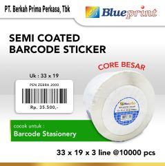 Sticker label Semi Coated 33x19x3Line BLUEPRINT Core 3 inc 10000Pcs