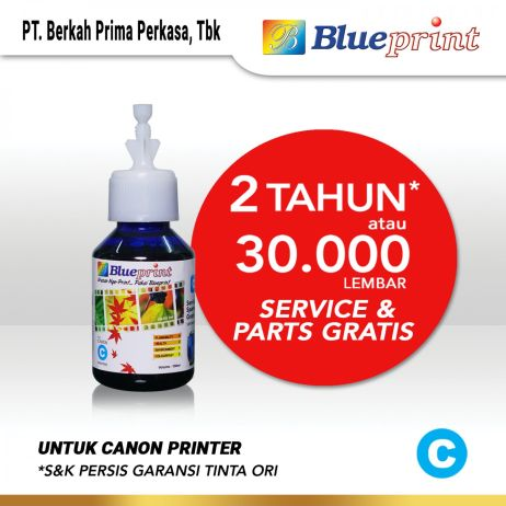 Tinta Tinta Canon BLUEPRINT Refill For Printer Canon 100ml  Biru CP canon cyan 100ml cp membership