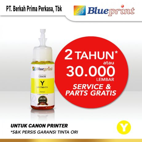 Tinta Tinta Canon BLUEPRINT Refill For Printer Canon 70ml Yellow  Kuning canon yellow 790 70ml membership