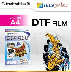 Kertas Transfer Film DTF BLUEPRINT  Digital Transfer Film PET A4  5 Lembar