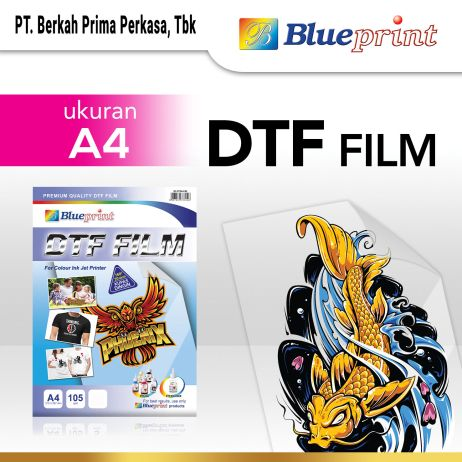 Kertas Foto Kertas Transfer Film DTF BLUEPRINT  Digital Transfer Film PET A4  5 Lembar dtf a4 1 lembar