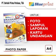 Kertas Foto  Kertas Glossy  Glossy Photo Paper BLUEPRINT A4 230 gsm