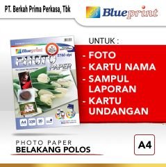 Kertas Foto Glossy  Glossy Photo Paper BLUEPRINT A4 230 gsm Polos