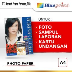 Kertas Foto  Kertas Glossy  Glossy Photo Paper BLUEPRINT A4 260 gsm