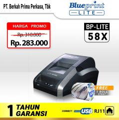 Printer Thermal POS BLUEPRINT 58X Support USBRJ11 Tanpa BLUETOOTH