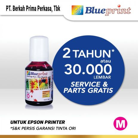 Tinta Tinta Epson 003 BLUEPRINT Refill For Printer Epson 100ml  Merah tinta epson 003 100 ml  magenta