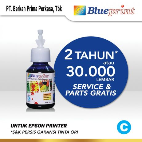 Tinta Tinta Epson BLUEPRINT Refill For Printer Epson 100ml  Cyan CP tinta epson 642 100 ml  cyan