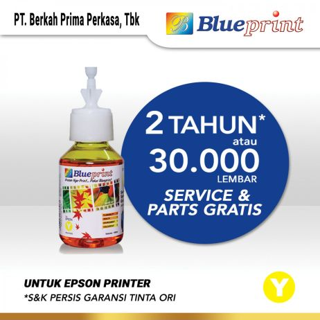 Tinta Tinta Epson BLUEPRINT 644 Refill For Printer Epson 100ml  Yellow CP tinta epson 644 100 ml  yellow
