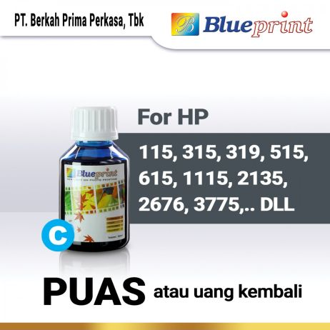 Tinta Tinta HP BLUEPRINT Refill For Printer HP 100ml  Biru tinta hp 100 ml  cyan