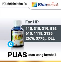 Tinta HP BLUEPRINT Refill For Printer HP 100ml  Biru